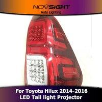 NOVSIGHT 2 шт.. датчик светодиодный проектор фары DRL противотуманная фара Поворотная сигнальная лампа набор для Toyota Hilux 2014 2016