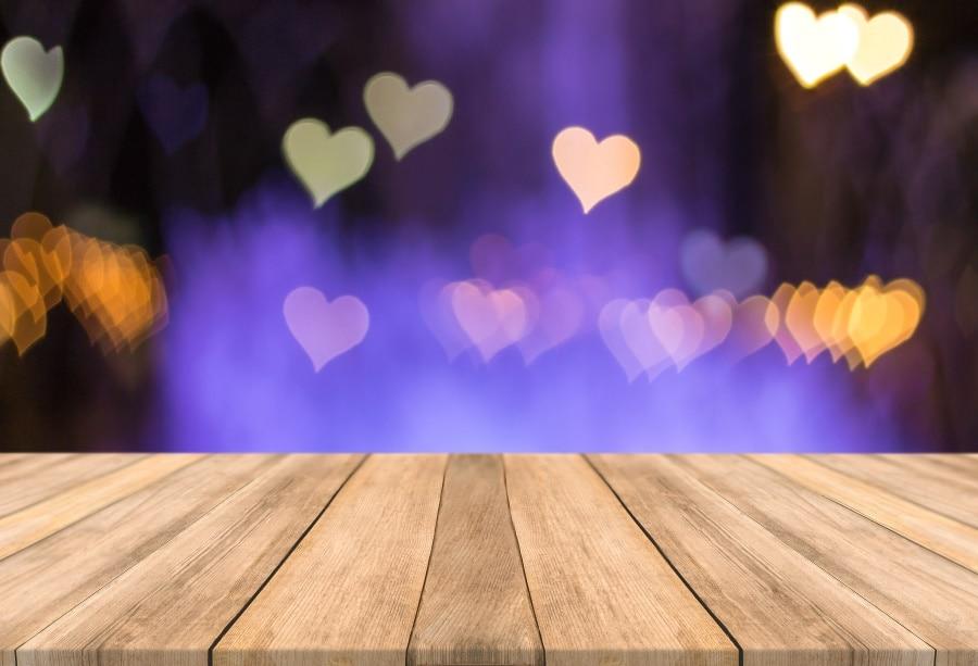 Laeacco любовь сердце узор День Святого Валентина деревянный пол доски ребенок фон для портретной съемки фото фоны фотостудия