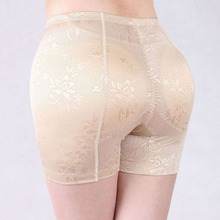 Sexy Women's Jacquard Shapewear Hip and Butt Plus size Padded Panty Free shipping Wholesale