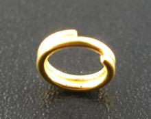 Liga dividir anéis de salto redondo ouro cor 5mm (2/8