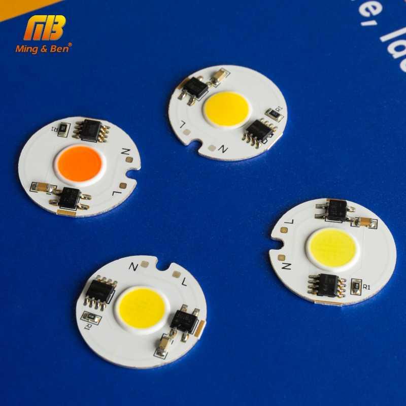 5pcs LED COB Chip Light 12W 9W 7W 5W 3W AC 220V Smart IC Day Cold Warm White Grow Light DIY For LED Spotlight Flood Light