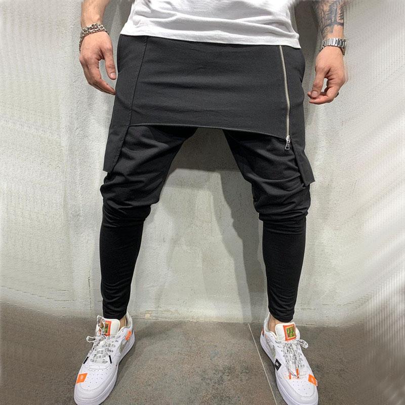 Plus Size Men Casual Drape Drop Crotch Harem Hip Hop Pants Trouser Baggy Dancing Pants Gothic Punk Style Harem Pants Men