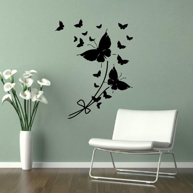 Наклейки на стену бабочки ZOOYOO, домашний декор, Съемный Настенный стикер для гостиной, для девочек