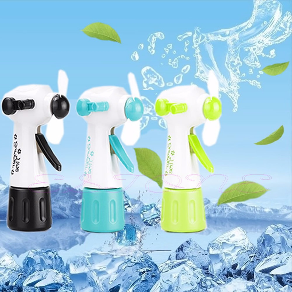 New Mini Portable Handheld Cooling Water Spray Mist Fan