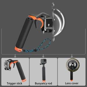 Image 3 - Su geçirmez Dome Port GoPro Hero için 7/ 6/ 5 siyah dalış su geçirmez konut Case şeffaf kubbe kapağı gopro aksesuarları