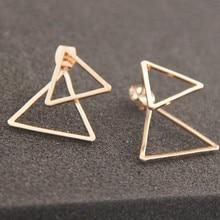 New minimalist copper qualitative geometric triangle fission ms wear earrings earrings 2016 design