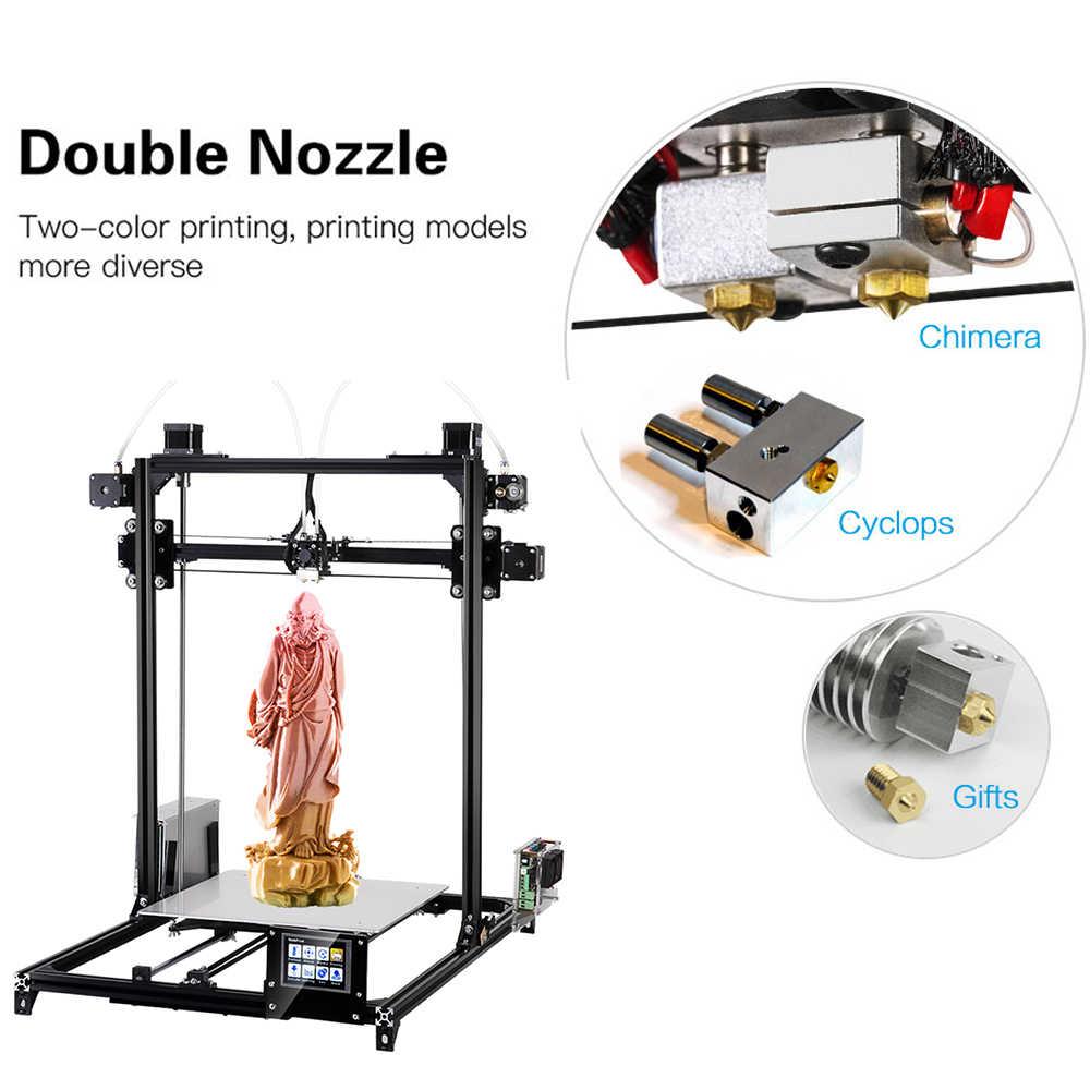 Flsun 3d Принтер Комплект двойной экструдер с сенсорным экраном большая площадь печати 300*300*420 мм автоматическое выравнивание 3D-принтер один рулон нити