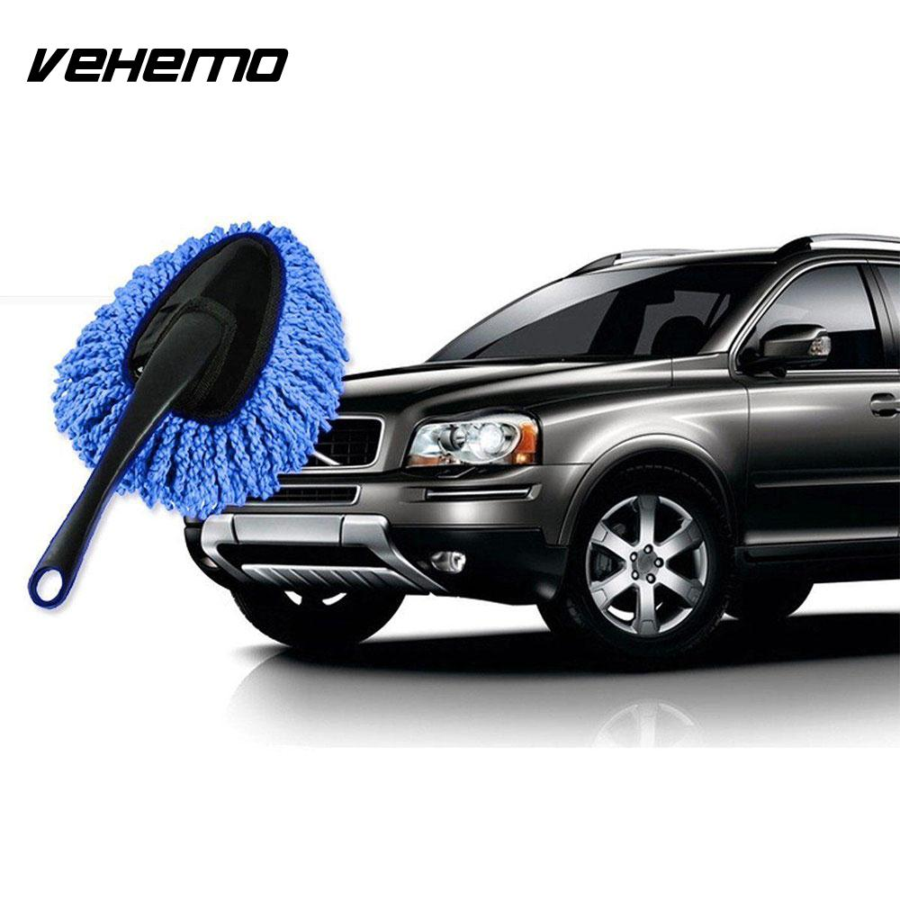Vehemo with Handle 2 Colors Cleaning Brush Car Wash Brush Automobile Car Body Duster Premium Windshield