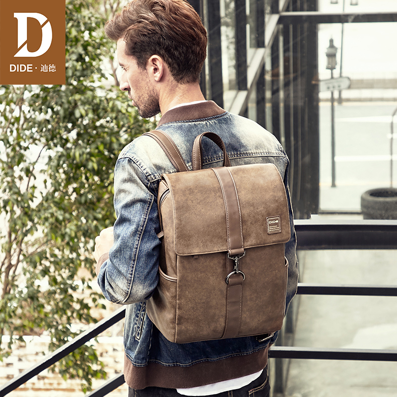 Dide Vintage Men Backpacks School Bags For Teenagers Boys Large Capacity Laptop Backpack Fashion Men Backpack Top Quality