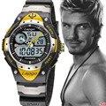 2016 nueva oferta de moda de hombres reloj impermeable reloj deporte militar estilo S Choque reloj led de los hombres de lujo a estrenar relogio masculino