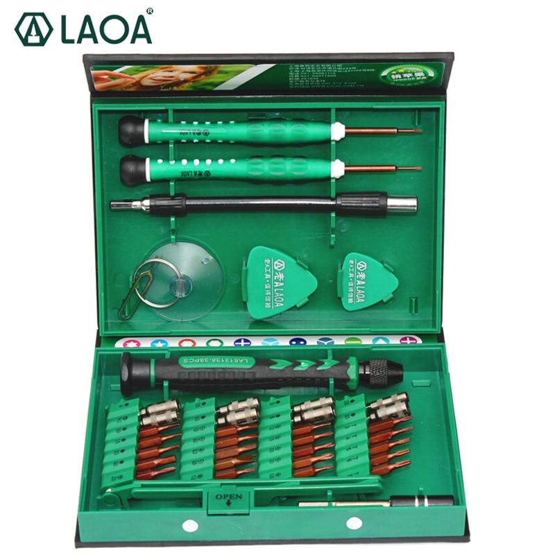 LAOA 38 in 1 Cacciavite di Precisione Set di Strumenti di Riparazione del telefono Mobile Del Computer Portatile Kit di Cacciaviti di Precisione utensili A Mano