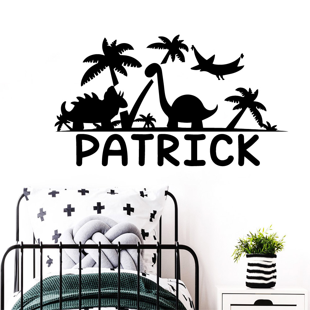 Removable Custom Name Wall Stickers Animal Lover Home Decoration Accessories Nursery Kids Room Wall Decor Art Mural