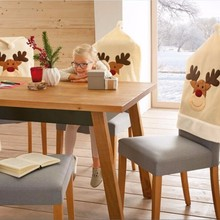 Świąteczny pokrowiec na krzesło 1 szt
