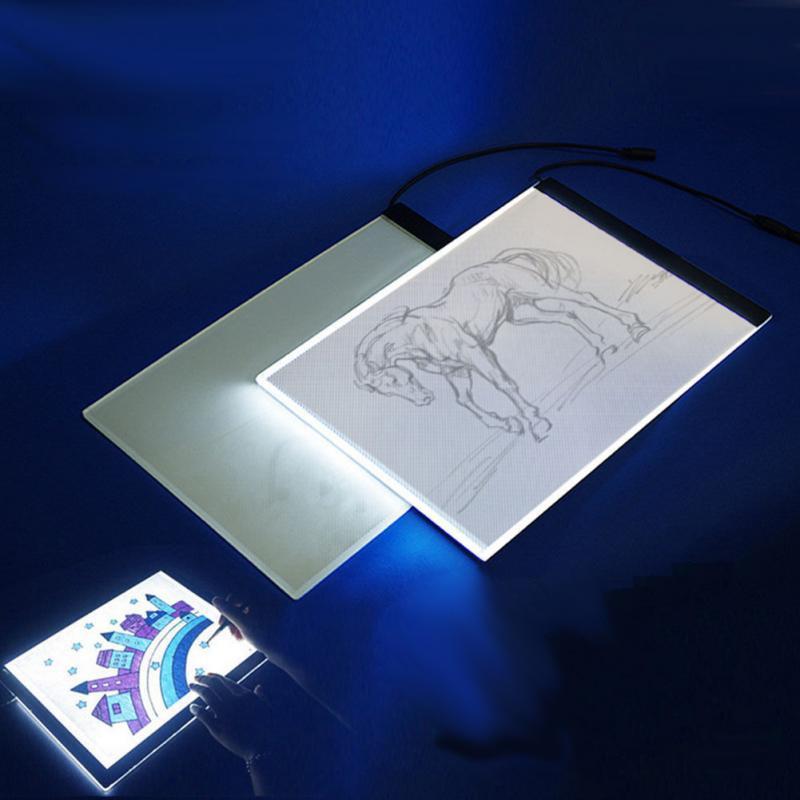 LED Tracing Light Box Board Artist Tattoo A4 Drawing Pad Table Stencil Display Z2036