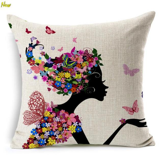 wholesale chair cushions samba swivel nordic style cushion without core custom cotton linen decorative throw pillows sofa home