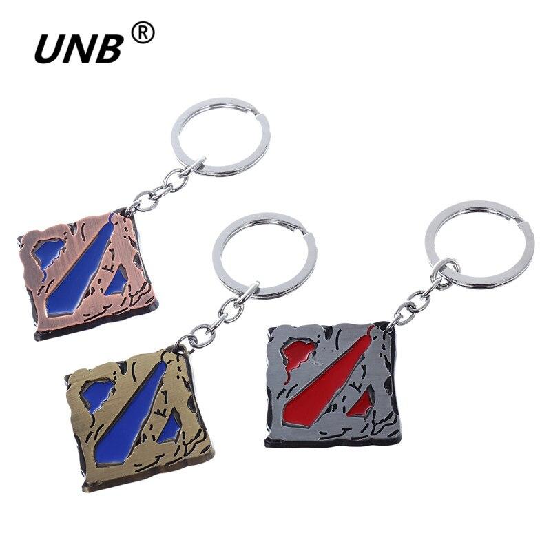 Dota 2 Logo Pendant Vintage Keychain dota2 Key Chain Figure Toy Jewelry Accessories Gift Keyring Keychains kids jewelry