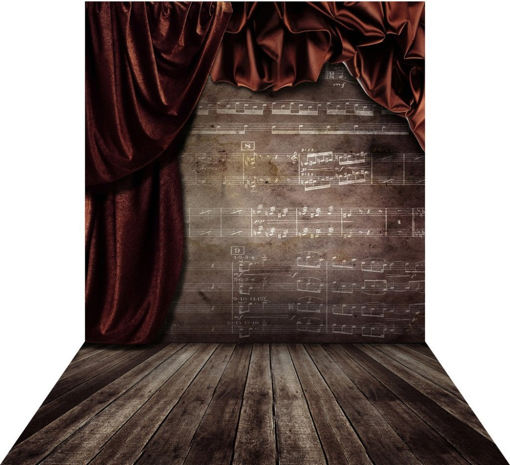 Capisco background retro photo studio music curtain flower brown backdrops photocall photographic photography
