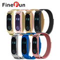 FineFun Mi Band 2 Stainless Steel Metal Bracelet Milan Magnetic Smart Wristband Bracelet Replaced Accessories Free Shipping