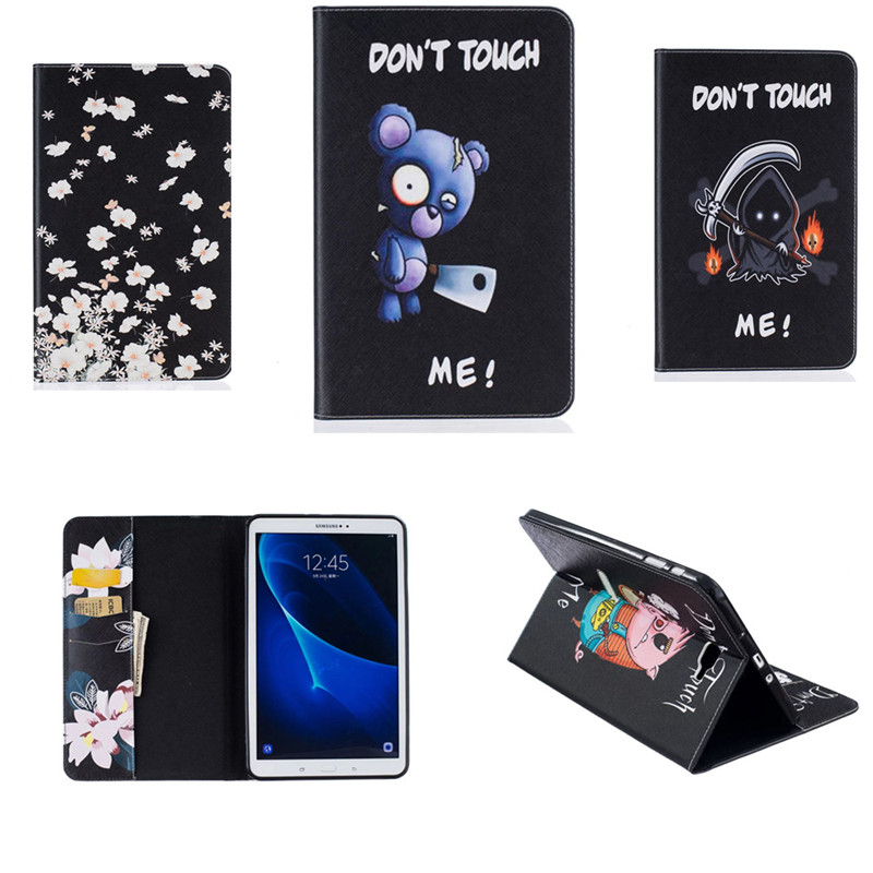 BF PU Leather Flip Cute Wallet Case For Samsung Galaxy Tab A 10.1 (2016) T580N T580 T585 T585C Tablet Stand With Card Slot Cover