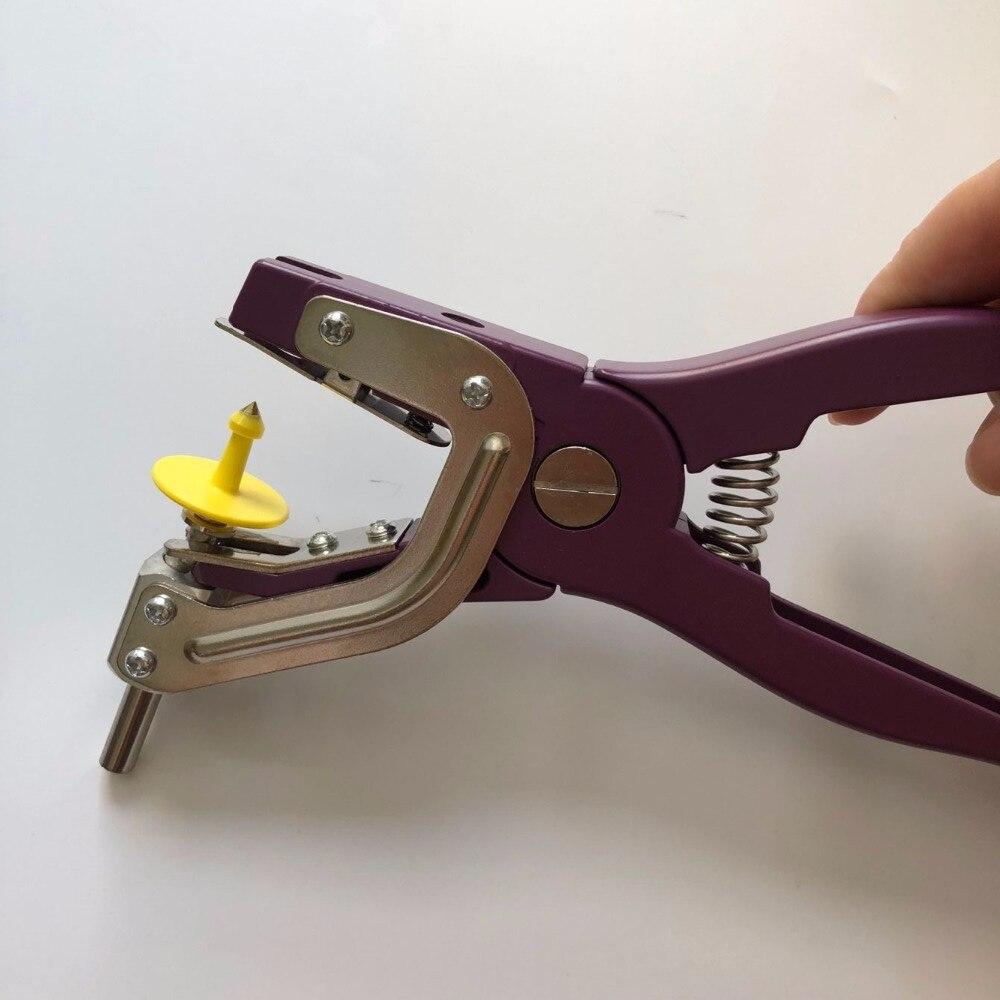 Étiquette d'oreille animale étiquette de bétail RFID x10 avec un applicateur de pince en métal - 6