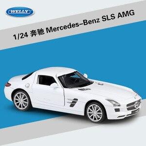 Image 5 - WELLY 1:24 จำลอง Benz SLS AMG กีฬารถยนต์ Diecast โลหะผสมรุ่นคลาสสิกของเล่นของเล่นสำหรับของขวัญเด็กคอลเลกชัน