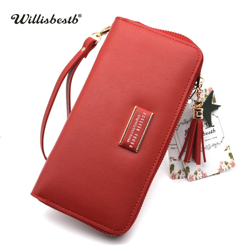 2018 New Wallet Women Purse Brand Design Long Zipper Female Wallets Card Holder Woman Purse Clutch Leather Feminina Carteira new brand candy colors leather carteira couro cards holder for girls women wallet purse plaid embossing zipper wallet