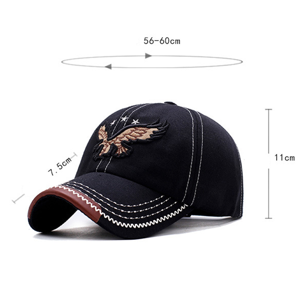 HTB1gpfke79E3KVjSZFGq6A19XXaC - New 3D Eagle Embroidery Baseball Cap Male Cap Hip Hop Flat Along Snapback Hats Baseball Cap Lovers Cap For Men & Women #30