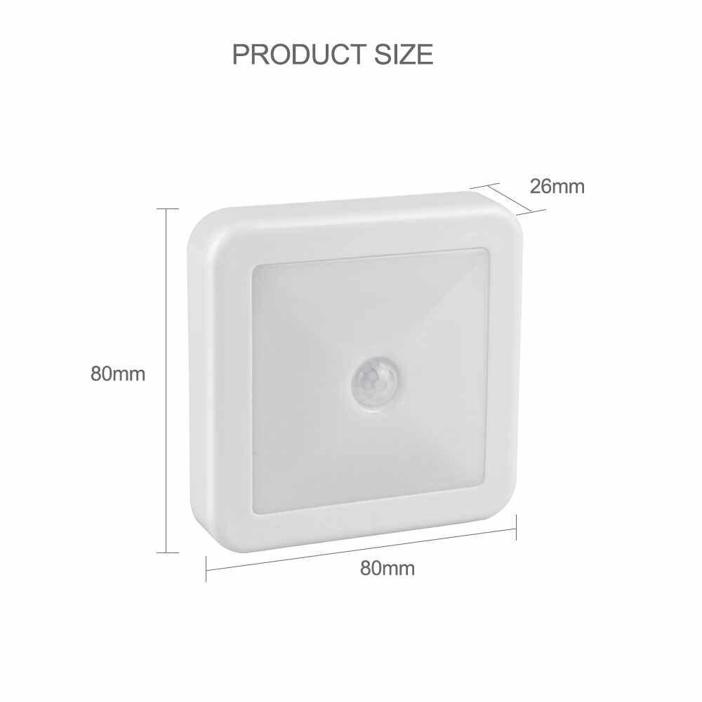 Новый Ночной светильник, умный датчик движения, светодиодный ночник на батарейках, WC прикроватная лампа для комнаты, коридора, тропинки, туалета A