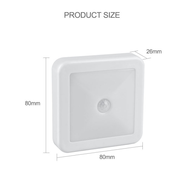 New Night Light Smart Motion Sensor LED Night Lamp Battery Operated WC Bedside Lamp For Room Hallway Pathway Toilet DA 3