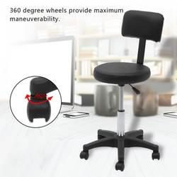 Массажный стул красота салон Регулируемый поворотный газовый Лифт Маникюр татуировки круглые стулья с спинка кресла 2 цвета