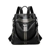 2018 Spring And Summer New Rivet Shoulder Bag Women Korean Version Of Soft Leather Large Capacity