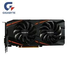 Игровая Видеокарта GIGABYTE RX 580 4 Гб видеокарта Radeon GPU RX580 4 Гб игровые видеокарты для видеокарт AMD карта HDMI PCI-E не майнит