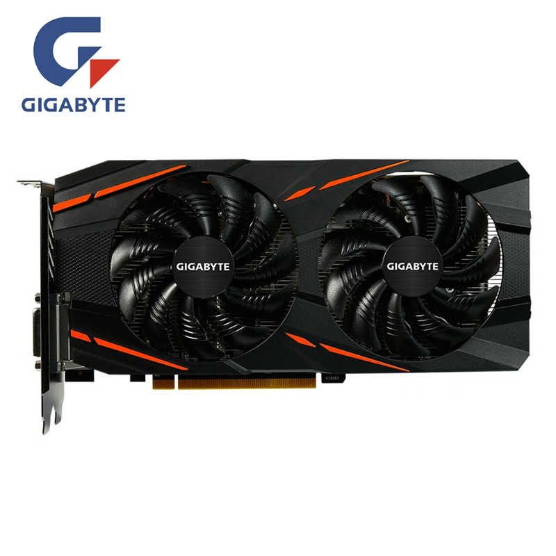 GIGABYTE RX 580 4GB Gaming Graphics Card Radeon GPU RX580 Gaming 4G Video Cards For AMD Video Cards Map HDMI PCI-E Not Mining
