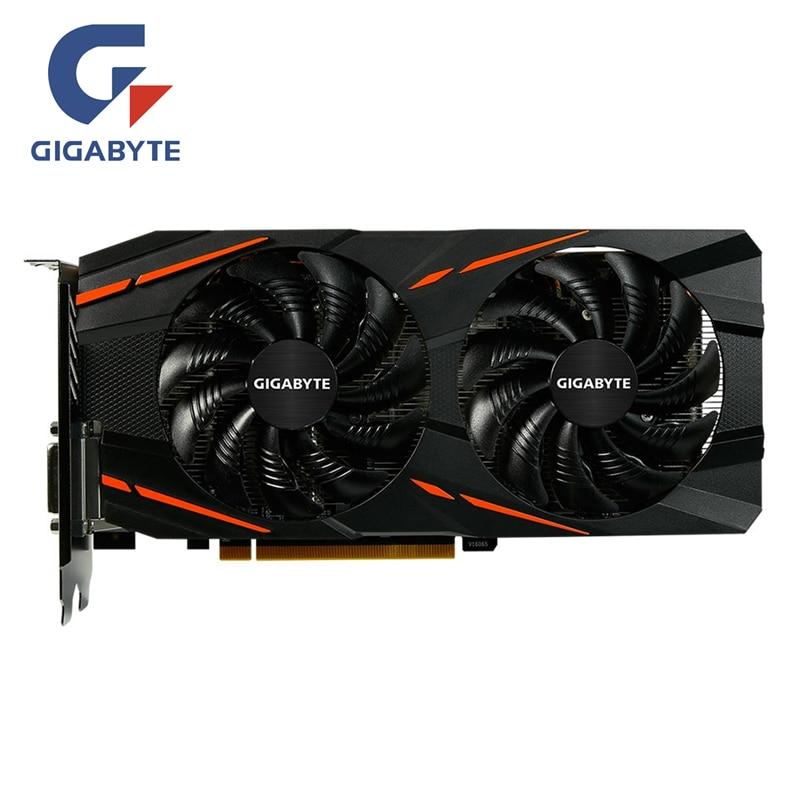 GIGABYTE RX 580 4GB Scheda grafica di Gioco Radeon GPU RX580 di Gioco 4G Schede Video Per AMD Schede Video mappa HDMI PCI-E Non di Estrazione Mineraria