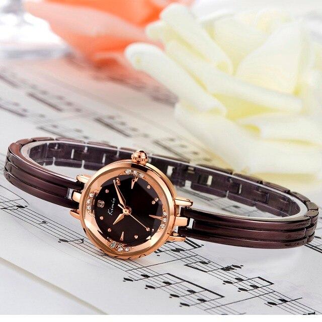 KIMIO New luxury Fashion Women's quartz Dress  bracelet watches waterproof stainless steel ladies GOLD wristwatches Female Clock