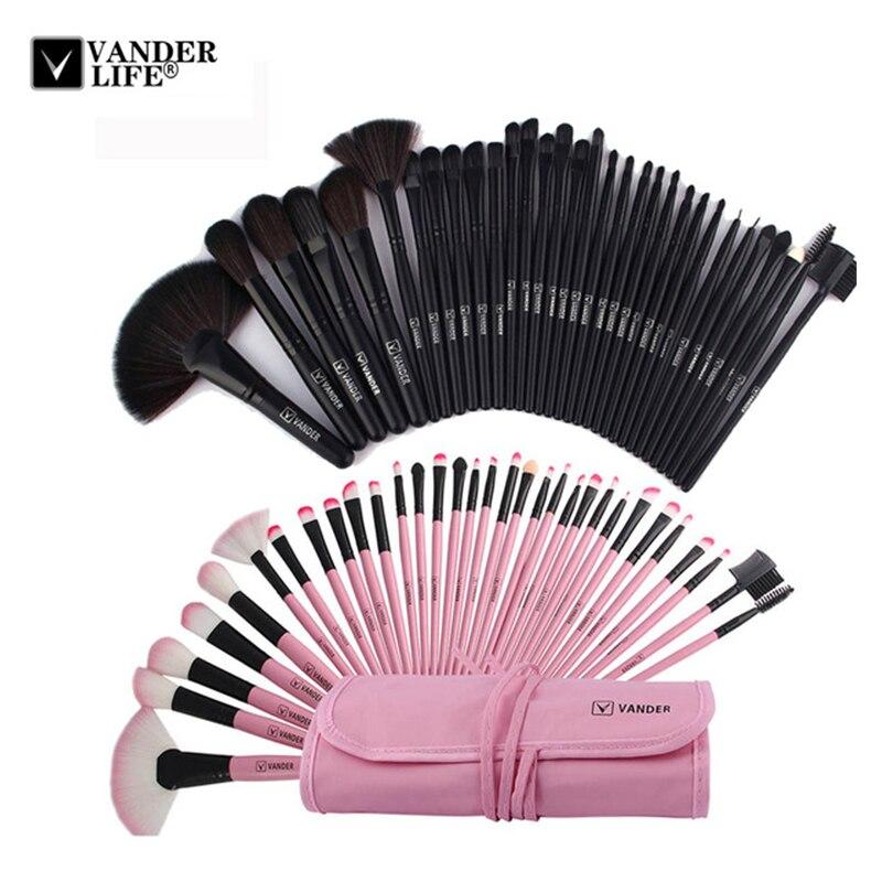VANDER VIE 32 pcs Maquillage Ensembles de Brosses Cosmétiques Professionnels Pinceaux Kit + Housse Sac Femme Make Up Outils pincel Maquiagem
