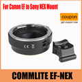 COMMLITE Auto-Focus Mount Adapter EF-NEX for Canon EF to Sony NEX Mount