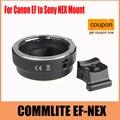 Commlite enfoque automático adaptador ef-nex para canon ef montaje para sony nex monte