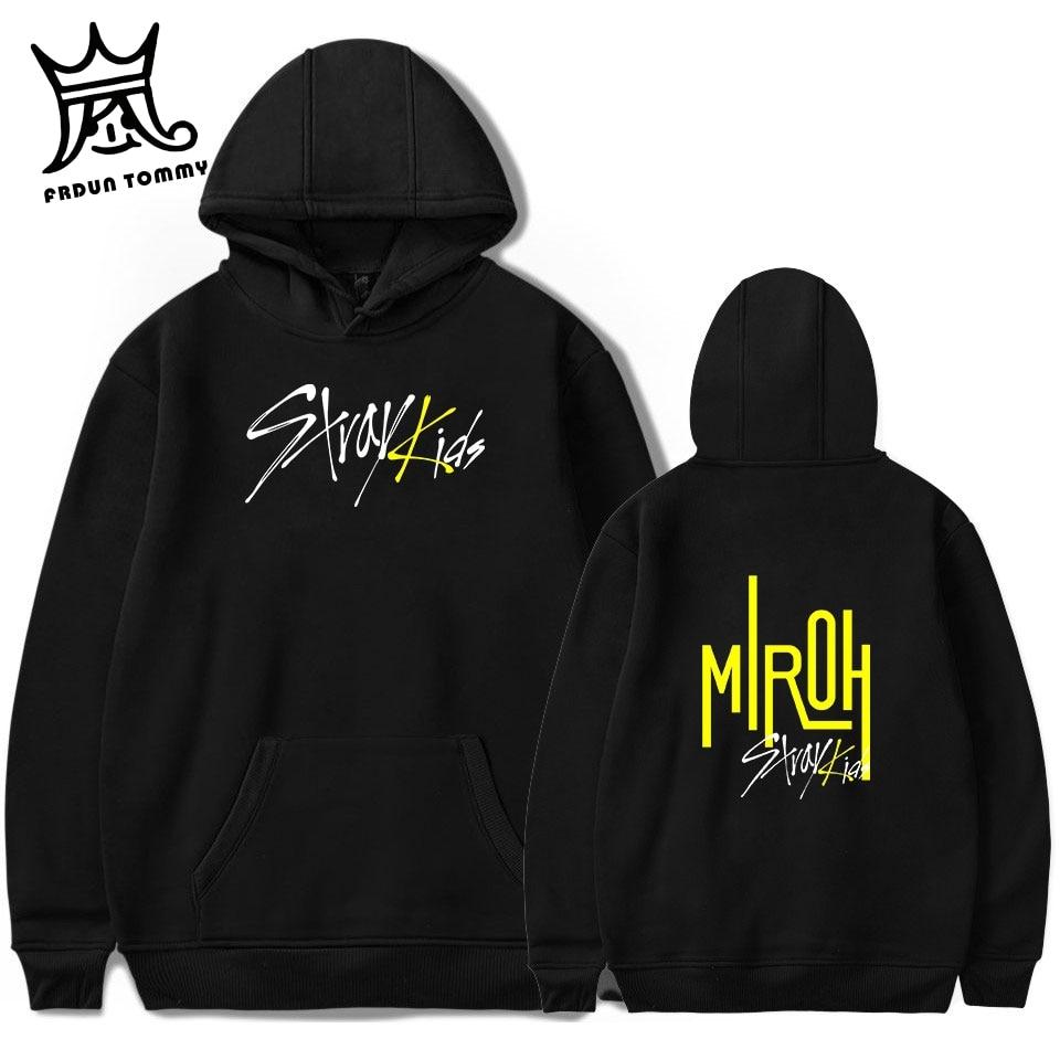 FRDUN TOMMY Stray Kids MIROH Hoodies Sweatshirt Streetwear High Street Hoodies Kpop Stray Kid Album Outwear Pullovers Sweatshirt