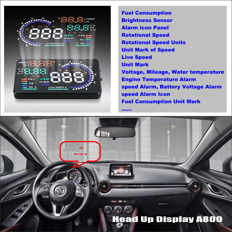 ФОТО Car Computer Screen Display Projector Refkecting Windshield For Mazda CX3 CX-3 CX 3 - Safe Driving Screen