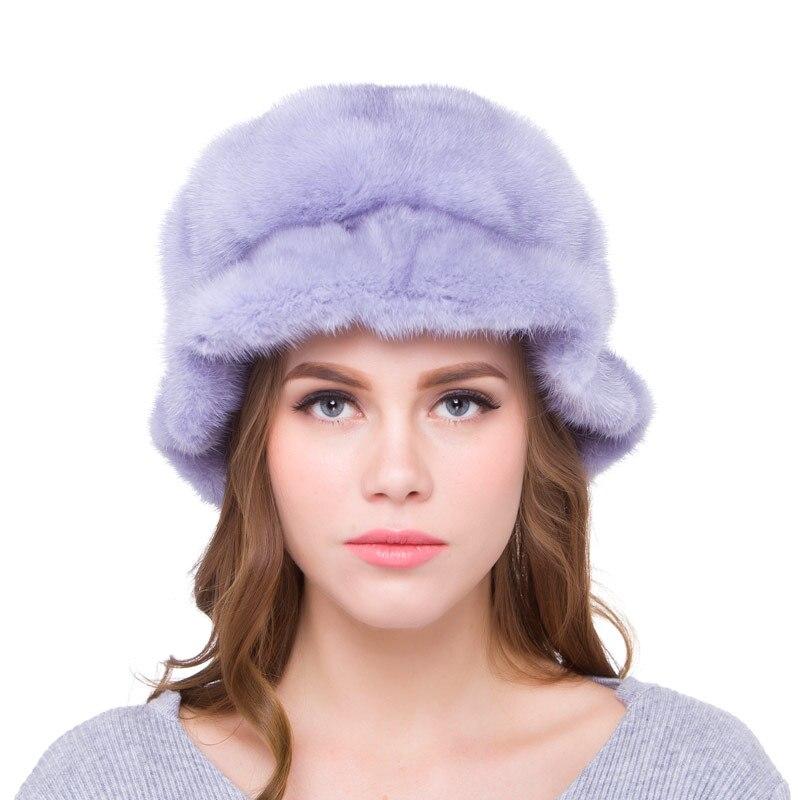 Женская шапка, шапки из натурального меха норки, шарик из меха норки, аксессуары, выдвижная осенне зимняя женская наружная теплая шляпа 2018, н