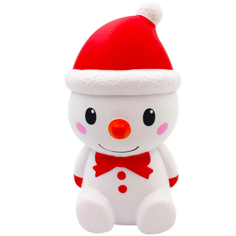 Jumbo Christmas Snowman Squishy Simulation Slow Rising Bread Scented Soft Squeeze Toy Stress Relief Fun For Kid Gift Xmas Toy