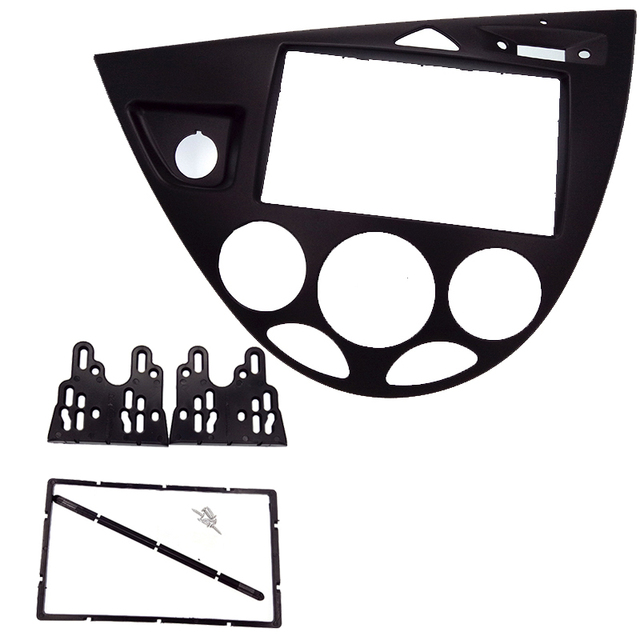 2 Din カーラジオ筋膜フィットフォーカス/フィエスタ 2006 (ヨーロッパ、 LHD) 車の再装着 DVD フレーム dvd 支払者パネルトリムインストールキットキット