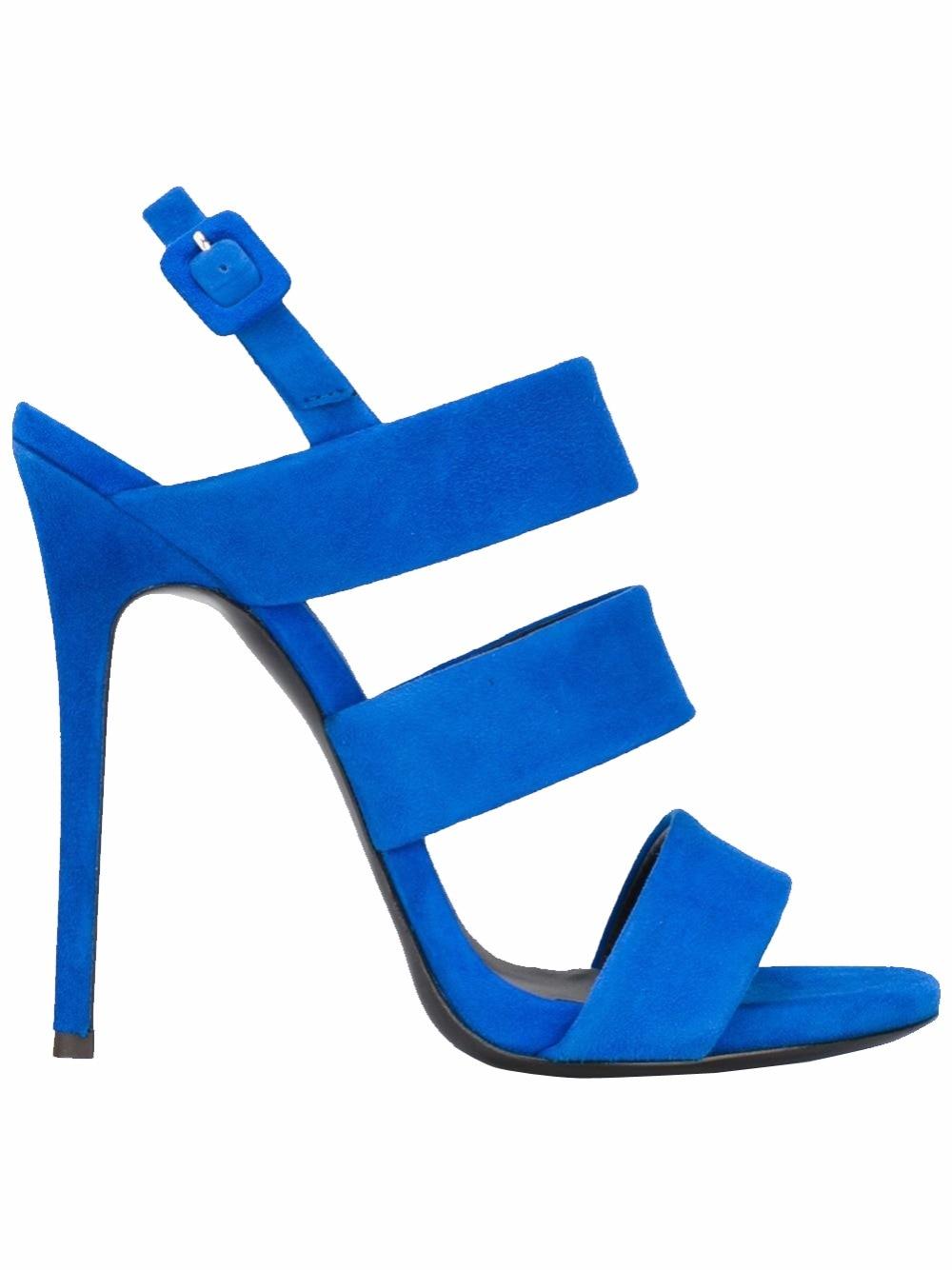 Womens Handmade Slingback Sandals 12cm High Heel Party Dress Shoes CKE154