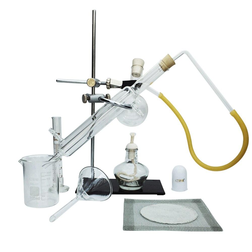 11 pièces petit laboratoire verre huile essentielle Extraction appareil de Distillation distillateur d'eau purificateur verrerie Kits