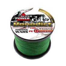 saltwater fishing equipment hollowcore line super longline 1000M pe braided wires for sea 300 400 500LB cords