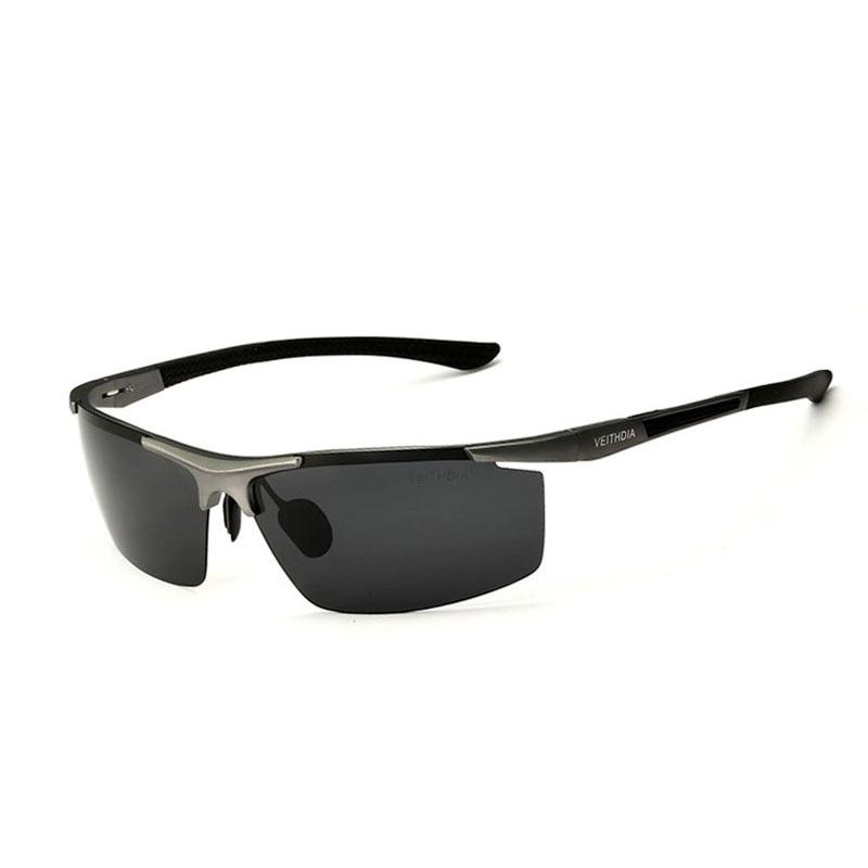 Polarisées s hommes revêtement miroir conduite lunettes de soleil homme lunettes veithdia aluminium et de magnésium lunettes de soleil