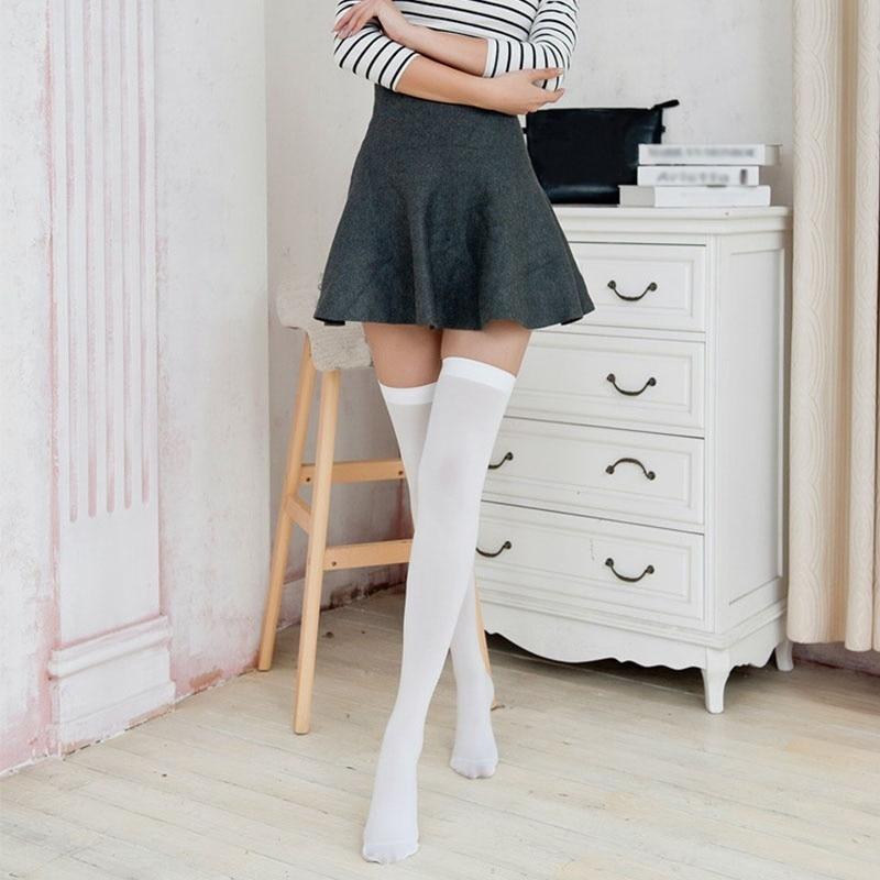 Skinny girls in stockings