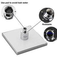 8 Inches LED Changing Color Rain Top Shower Head Durable Bathroom Rainfall Showerhead LB88
