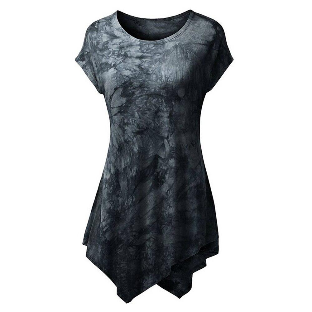 2018 Fashion-Women's Fashion Short Sleeve O-Neck Irregular Hem T-shirt